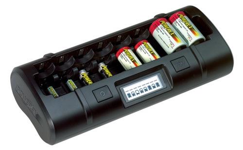Cargador powerex mh c808m for Tamanos de pilas